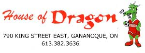 House of Dragon Restaurant Gananoque ON Retina Logo